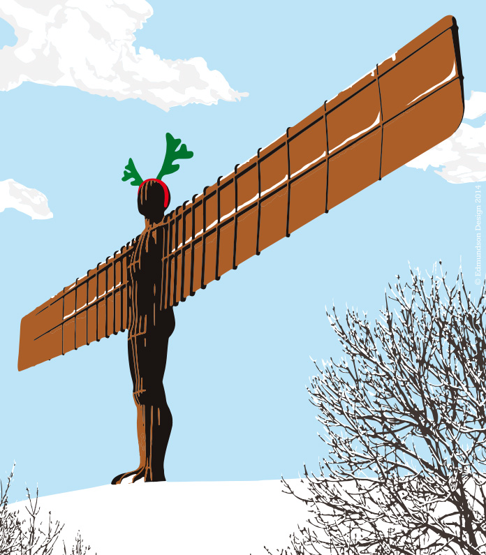 Snow Angel of the North